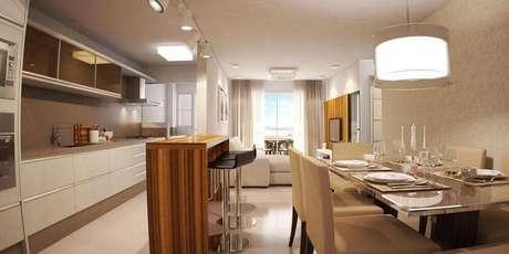 7. Alguns tipos de luminária de LED são fáceis de combinar com outros modelos de luminária para cozinha.