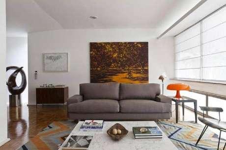 40. Modelo de quadros para sala grande. Fonte: Pinterest