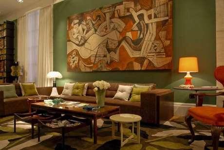 8. É importante que os quadros para sala grande se adequem ao estilo de decoração do ambiente. Fonte: Pinterest