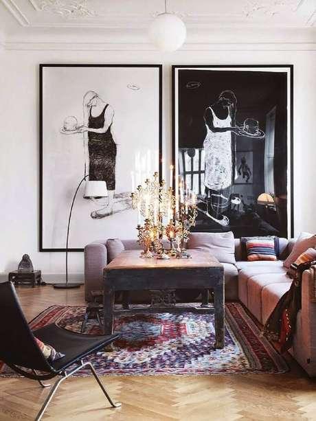 64. Quadros grandes para sala de estar. Fonte: Casa de Valentina