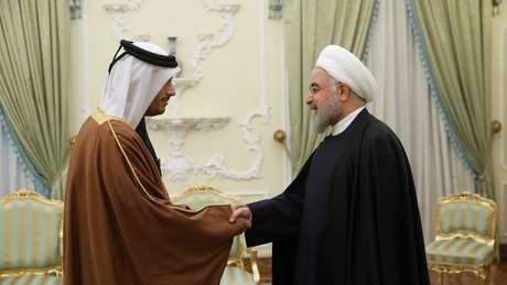 O Catar teria fortes relações com o Irã e o Hezbollah