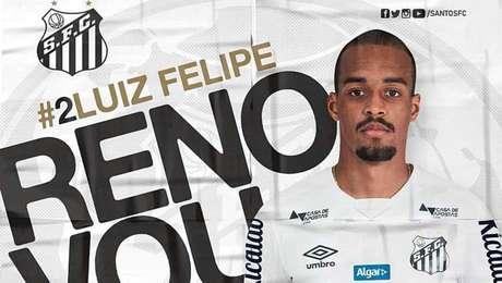 Luiz Felipe renova contrato com o Santos