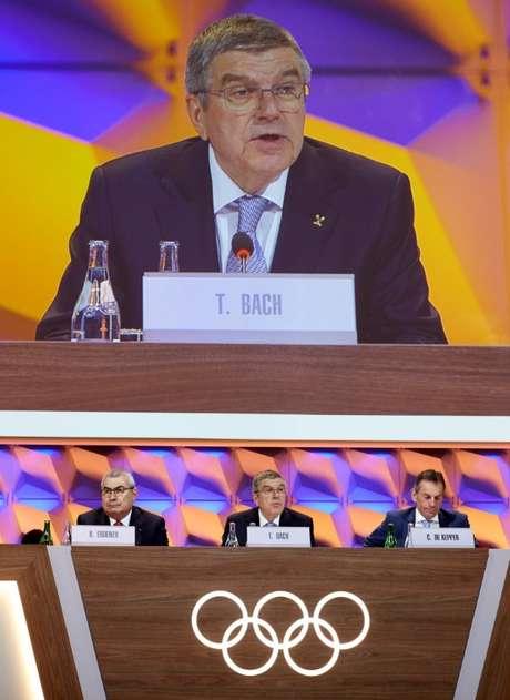 Thomas Bach, presidentedo Comitê Olímpico Internacional (COI). 10/1/2020.  REUTERS/Denis Balibouse