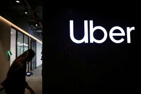 Logotipo do Uber no escritório da empresa na Colômbia. 12/12/2019. REUTERS/Luisa Gonzalez