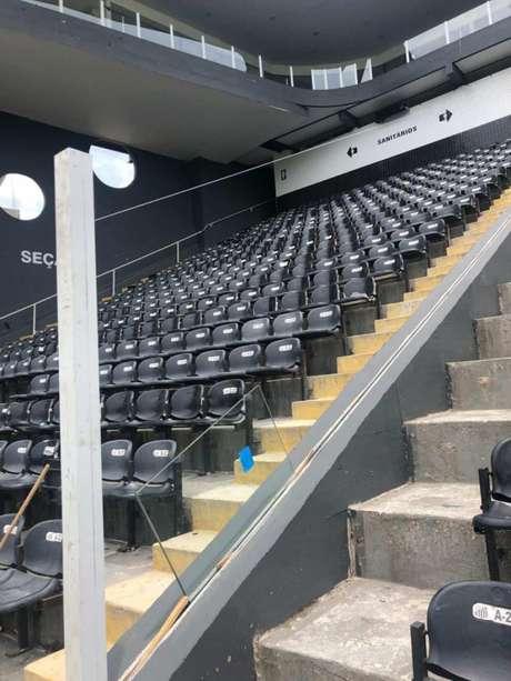 Novo setor visitante ficará abaixo das cabines de imprensa escrita (Foto: Reprodução de internet)