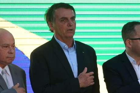 Jair Bolsonaro participa da inauguração do novo Pronto Socorro da Santa Casa de Misericórdia de Santos.