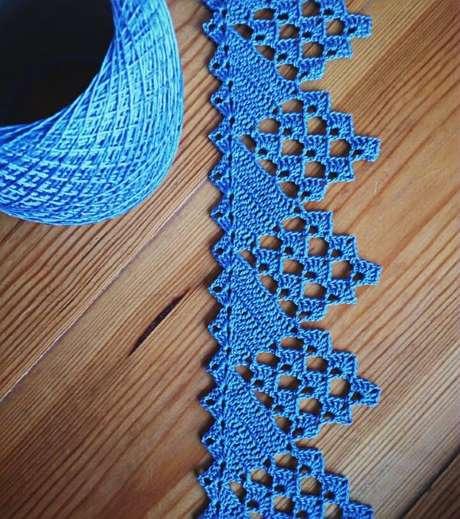 72. Bico de crochê azul – Foto: Pinterest