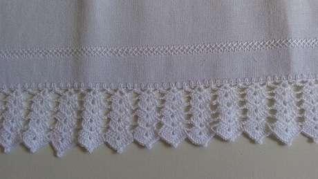 22. Bico de crochê com camadas iguais. Foto de Arte aos 4 Ventos