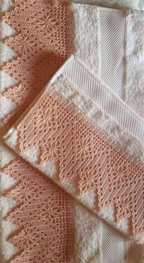 80. Bico de croche para toalha – Via: Pinterets
