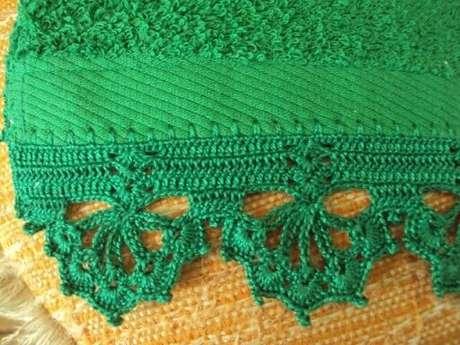 69. Bico de crochê para toalha verde. Foto de Pinterest