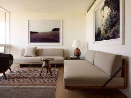 13. O conjunto de sofá garante uma decoração bem harmônica – Foto: Ecce Home