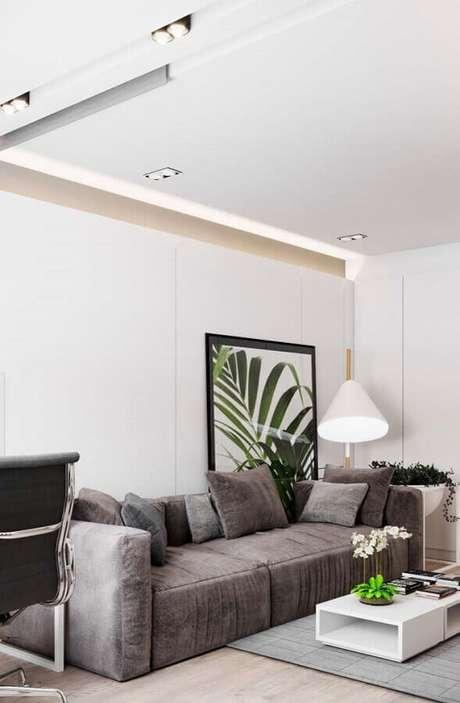 4. O tecido do sofá fará grande diferença na decoração e sensação de conforto do ambiente – Foto: Webcomunica