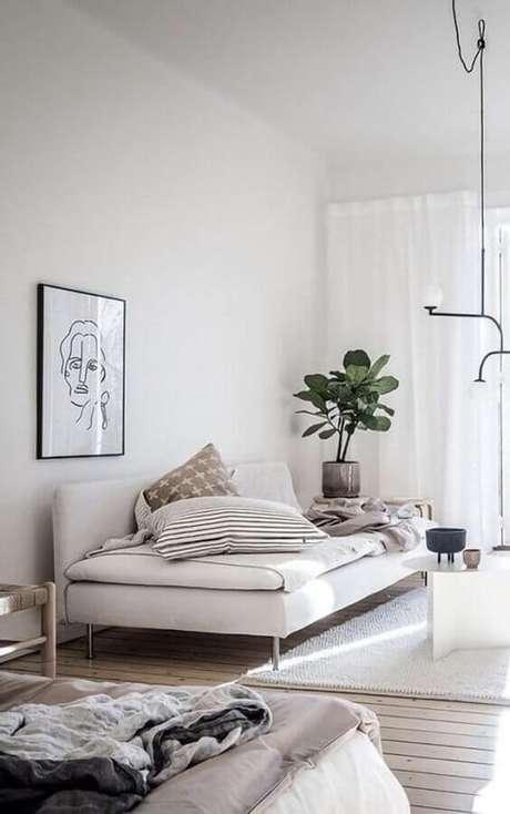 22. O sofá cama é um móvel super prático para o dia a dia – Foto: Costa Center