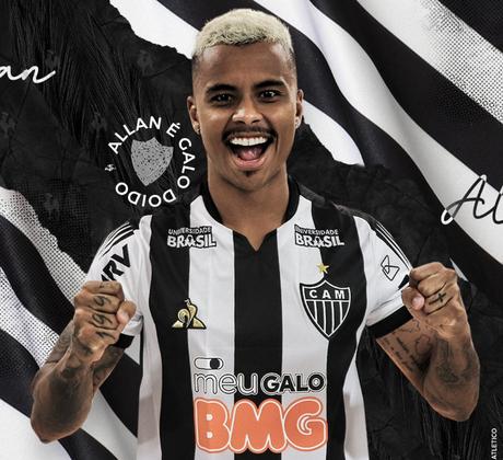 O Atlético-MG anunciou a contratação de Allan até dezembro de 2023. O jogador disputou o Brasileirão de 2019 pelo Fluminense, mas os seus direitos pertenciam ao Liverpool, da Inglaterra. (Foto: Reprodução)