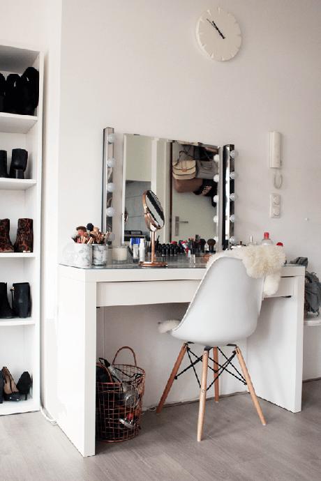 27. Penteadeira camarim para quarto – Via: Pinterest