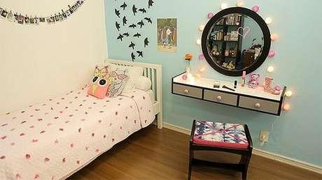 81. Penteadeiras modernas para quarto de menina – Via: Pinterest