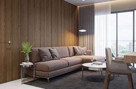 83. Escolha o melhor sofá que se adapta ao seu ambiente decorado – Foto: Pinterest