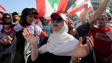 Manifestantes no Líbano têm ido às ruas por desigualdade e contra a corrupção