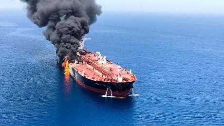 Os EUA culparam o Irã por uma série de ataques a petroleiros no Golfo no ano passado