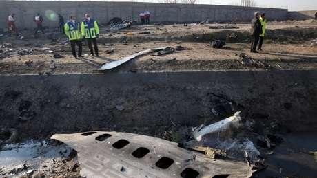 Avião ucraniano caiu logo após a decolagem