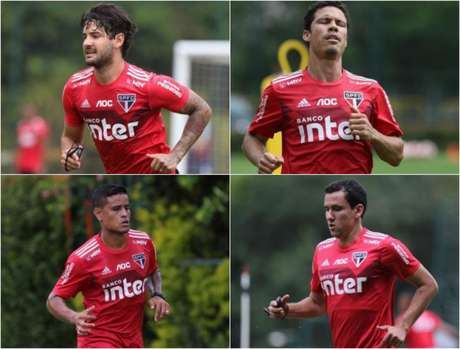 Pato, Hernanes, Everton e Pablo: vão deslanchar em 2020? - FOTOS: Rubens Chiri/saopaulofc.net
