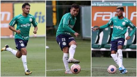 Gustavo Scarpa, Victor Luis e Matheus Fernandes têm propostas (Foto: Agência Palmeiras)