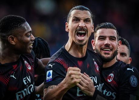 Ibrahimovic marcou pela primeira vez em seu retorno ao Milan (Foto: Divulgação/AC Milan)