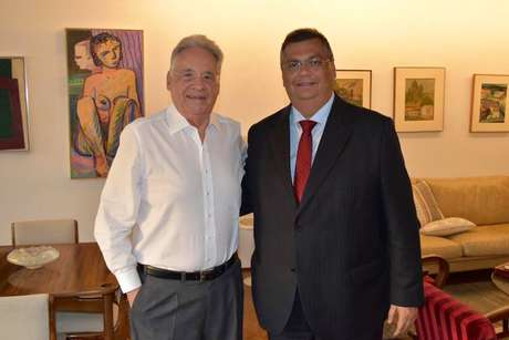 ARQUIVO 10/01/2020 POLITICA Governador do Maranhao Flavio Dino (PCdoB) encontra com o ex-presidente do Brasil Fernando Henrique Cardoso (PSDB)