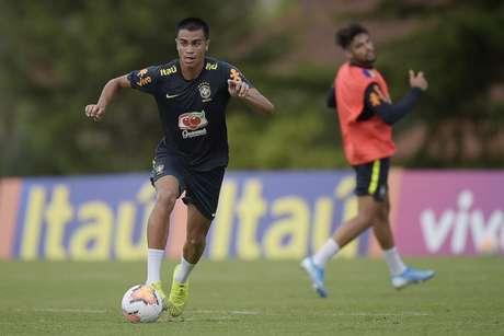 Reinier em ação pela Seleção Brasileira Sub-23: o jovem reforçará o Real Madrid (Foto: Alexandre Loureiro/CBF)