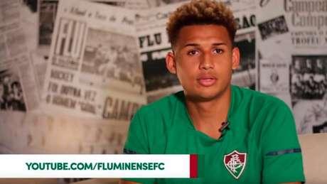 Felippe Cardoso conversou com o canal do Fluminense na internet (Foto: Reprodução Youtube FFC)