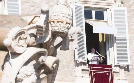 Papa Francisco celebra Angelus no Vaticano