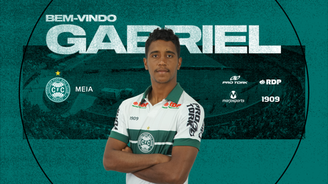 Gabriel é o novo reforço do Coritiba (Foto: Divulgação/Coritiba)