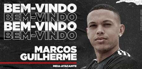 Marcos Guilherme foi anunciado como novo reforço do Internacional (Foto: Divulgação/Internacional)