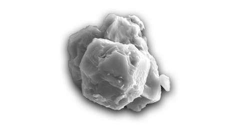 Micrografia eletrônica de um grão pré-solar. Este exemplo tem cerca de 8 micrômetros de comprimento