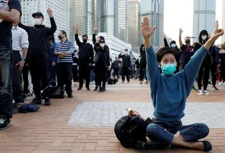 Manifestantes antigoverno protestam em Hong Kong 12/01/2020 REUTERS/Navesh Chitrakar