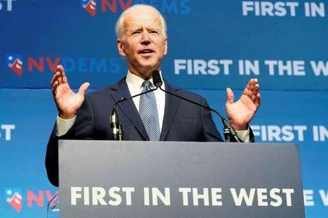 Joe Biden discursa em Las Vegas 17/11/2019 REUTERS/Carlo Allegri