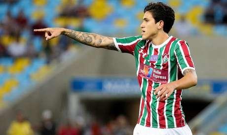 Cria de Xerém: Pedro foi um dos destaques recentes da base do Fluminense (Foto: LUCAS MERÇON / FLUMINENSE F.C.)