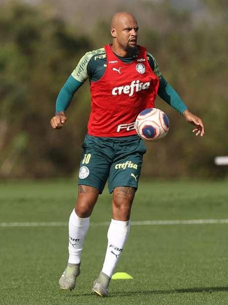 Felipe Melo durante treino do Palmeiras em Orlando, para a disputa da Florida Cup (Foto: Cesar Greco)