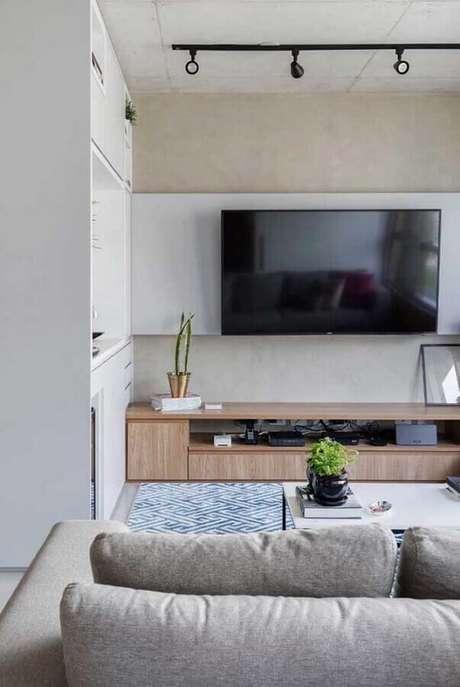 1. O rack com painel é um móvel indispensável para a sua sala – Foto: Ideias Decor