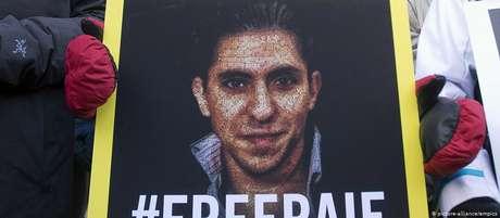 Protesto pela libertação de Raif Badawi no Canadá