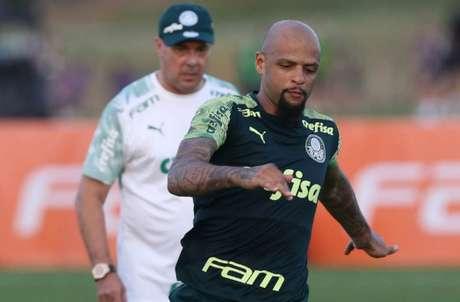 Felipe Melo se colocou à disposição de Luxemburgo para zaga e deve ser titular no setor nos EUA (Agência Palmeiras)