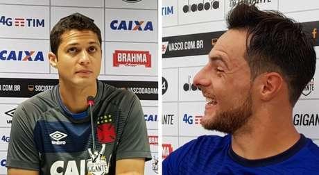 Anderson Martins (esquerda) e Leandro Desabato (direita) com a camisa do Vasco (David Nascimento/LANCE!Press)