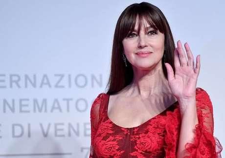 Monica Bellucci durante a última edição do Festival de Veneza, em 31 de agosto de 2019