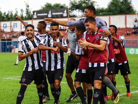 O Atlético-MG venceu por 4 a 1 o São Bernardo pela Copinha, nesta terça-feira (Foto: Divulgação/Atlético-MG)