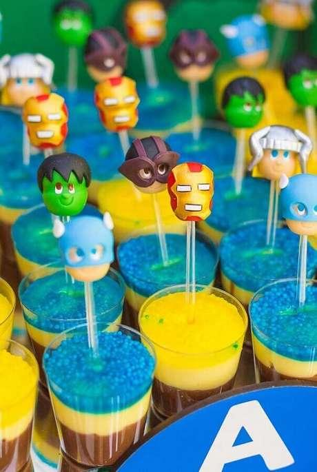 43. Ideia de docinho divertidos para festa infantil dos Vingadores – Foto: Pinterest