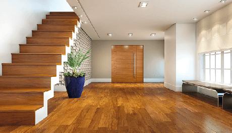 34. Utilize o piso laminado para revestir a estrutura da escada. Fonte: Multipisos