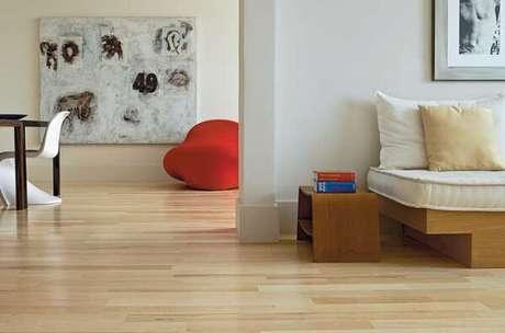 55. Evite grandes reformas utilizando o piso laminado no chão. Fonte: Pinterest