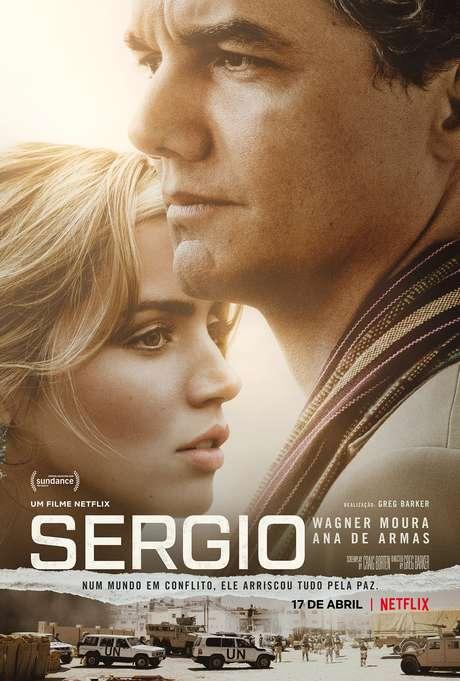 Cartaz do filme Sergio, com Wagner Moura e Ana de Arma. O longa estreia na Netflix em 17 de janeiro