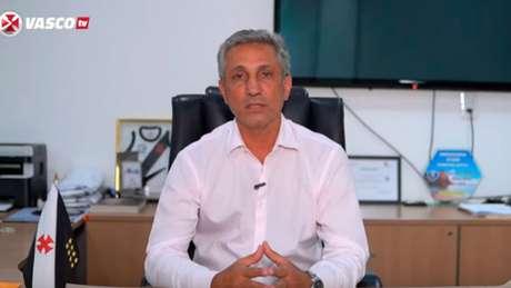 Alexandre Campello falou à Vasco TV sobre alguns tópicos do clube (Foto: Reprodução/Vasco)