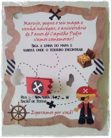 46. Convites de aniversário infantil criativos – Foto: Festas. Site